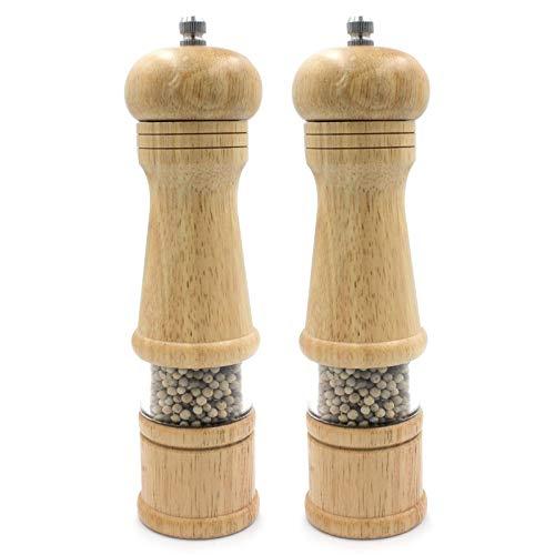 (Salt and Pepper Mills Shakers Salt and Pepper Grinders,Oak Wooden Set of 2)