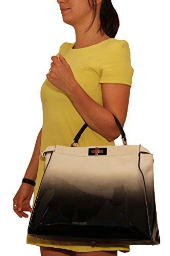 blanc Fendi noir Sac Multicolore main femme pour à S4YqBwS