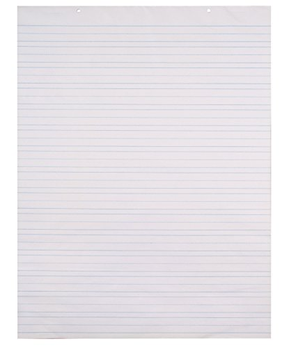 School Smart Chart Paper Pad, 24 x 32 Inches, Ruled 1-1/2 Inch, White, 70 Sheets by School Smart