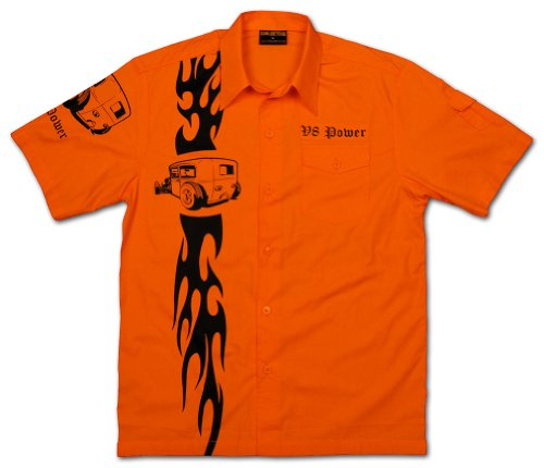 Chaqueteros-Flaming-Racing-Rockabilly-Tattoo-King-Shirt-in-Orange