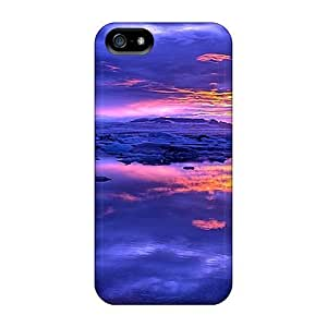 For Iphone 6 4.7(blue Sky With Golden Sunset) Plastic mobile phone High Grade case miao's Customization case
