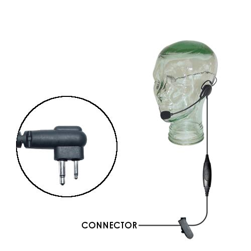 Klein Razor Lightweight Behind The Head Headset for Motorola 2-Pin CLS1110 1410 CP200D HYT TC-508 Bearcom BC130 BC95 BC250D Two Way Radios ()