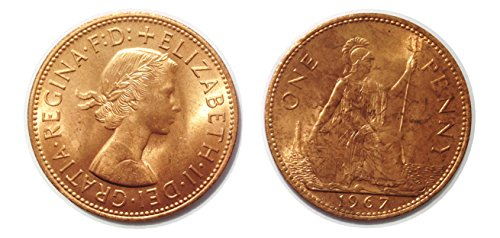 Collectible coins - 2 One Penny coins from 1967