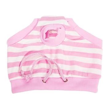 Mujer Mascotas Perro Sanitaria Pant Pant Higiene pañal Breves - Pink and White Stripes - Cintura