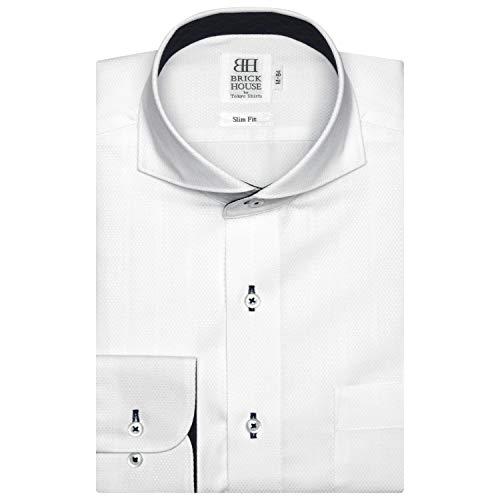 間違えた練る層ブリックハウス ワイシャツ 長袖 形態安定 ホリゾンタル ワイドスリム メンズ BM018500AB11Z1A-90