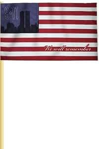 Heath al aire libre 291119–11Stick bandera conmemorativa, 30,5cm por 45,7cm Stick bandera, Poly cotton-displayer, caso de 36