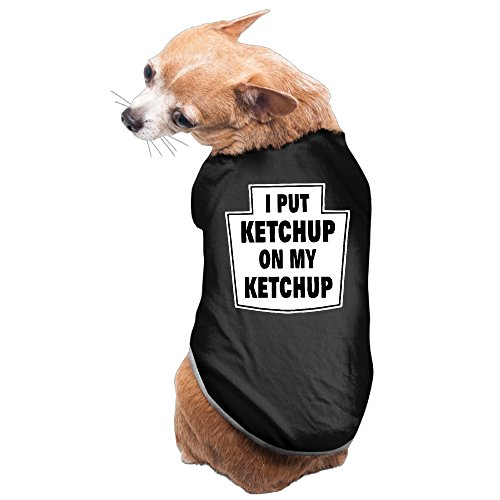 Toddler Ketchup Bottle Costume (I Put Ketchup On My Ketchup Dog Costume Cute Dog Hoddie Pet Supplier)