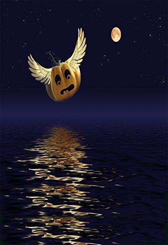 7' Halloween Pumpkin Bucket - Yeele 5x7ft Halloween Backdrop Magic Flight Pumpkins Party Decor Photography Background for Picture Kids Children Portrait Photo Booth Shooting Vinyl Cloth Photocall Studio Props