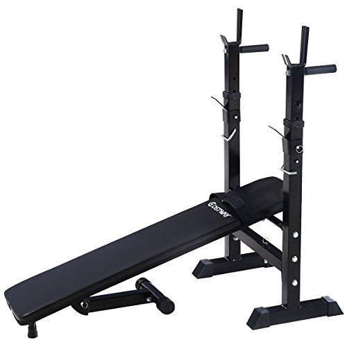 Goplus Adjustable Folding Weight Lifting Flat Incline Bench Fitness Body Workout Lifestyle Updated