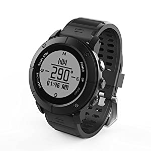 Smart Watch,Outdoor sports running IP68 waterproof The treadmill Watch with Global PositioningThe System,Heart Rate,Compass,Pedometer for IOS Iphone,Android