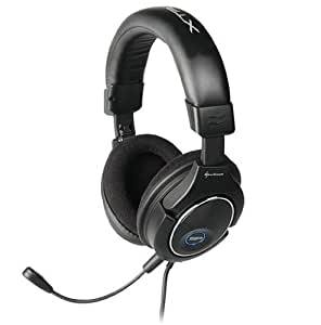 Sharkoon X Tatic SP - Auriculares con micrófono extraíble y cable RCA para ordenador, Xbox y PlayStation (incluye adaptador)