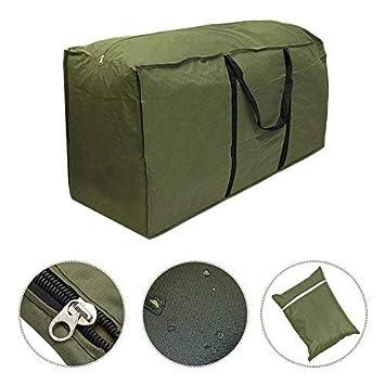 Sac de rangement pour coussins de meubles de jardin - Sac de transport  léger et imperméable pour coussins de mobilier d\'extérieur C: 173 x 76 x 51  cm ...