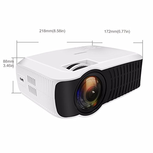 Wifi projector elegiant 3000 lumens projector support 1080p android4 4 wifi bluetooth wireless for Small bluetooth projector