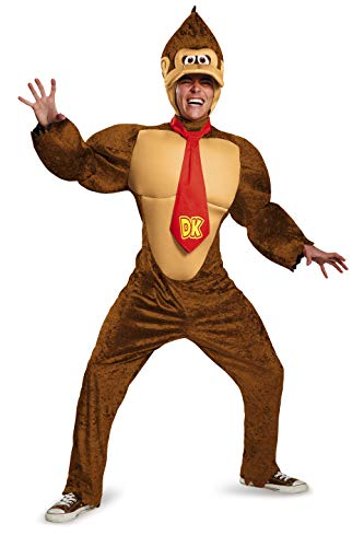Disguise Men's Plus Size Super Mario Donkey Kong Deluxe Costume, Brown, XX-Large (Adults Costumes Amazon)