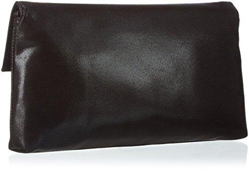 Paco Mena Damen Acebo Clutches, 27x15x2 cm Schwarz (Schwarz 01)