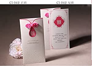 Patty Delicate Laser Cut Floral Wedding Invitation Cards for Party, Wedding, Birthday, Bridal Shower -- Set of 50 Pcs (EK-IN2034)