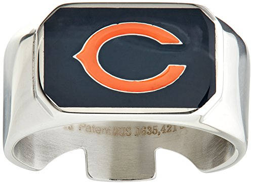 NFL Chicago Bears Steel Ring Size - Ring Stainless Nfl Steel
