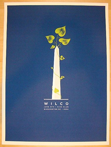 2004 Wilco - Dc Silkscreen Concert Poster by Heads of State