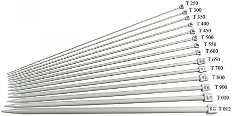 Lot 11 Paires Qualité Aluminium Aiguilles à tricoter Taille 2mm-8mm Envoi Gratuit *