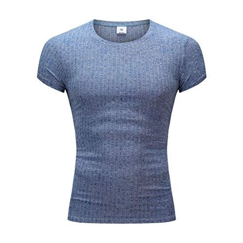 YKARITIANNA Fashion Men's Casual Slim Fit Short Sleeve Sports Shirt Top Blouse