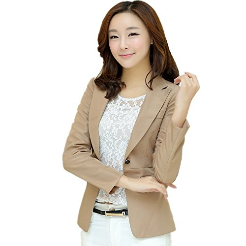 mikty-women-casual-work-office-blazer-lightweight-boyfriend-one-button-jacket-khaki-us-m-8