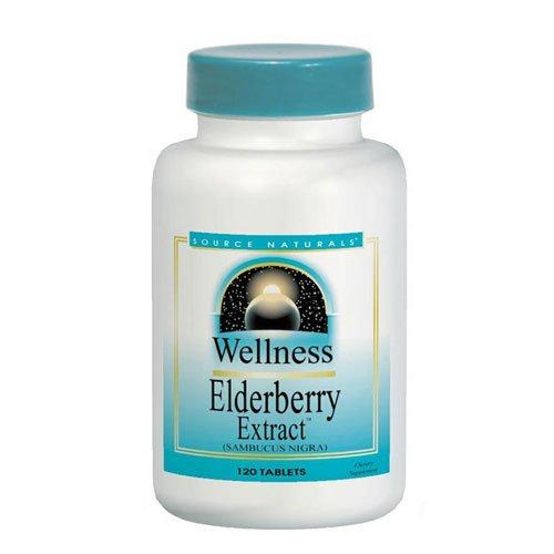 Source Naturals extrait de sureau (bien-être) 500 mg, 120 comprimés