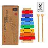 MUSICUBE 2nd Gen Colorful Wooden Xylophone, FSC Certificated Advance Xylophone for Kids with Easy Pack-Up Stick Design of the Bottom, 2nd Gen Design FSC Wood Xylophone