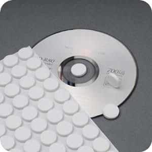 Juego de 100 puntos de espuma adhesivos para CD/DVD, color blanco