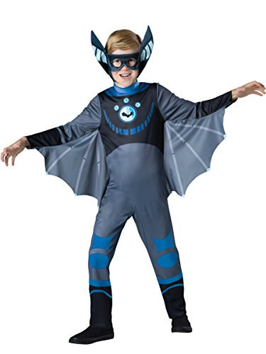InCharacter Costumes Bat - Blue Costume, One Color, 6 (Boys Bat Costume)