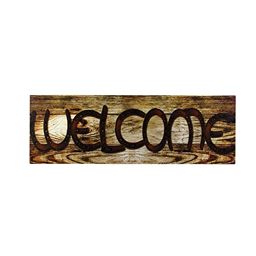OHIO WHOLESALE, INC. Canvas Prints Wall Art, Wrapped on Stretcher Bars - Lucky Welcome Sign Canvas - Decorative Canvas Art Print - Ready to Hang Wall Decor 8 X 24 X 1 Inch -