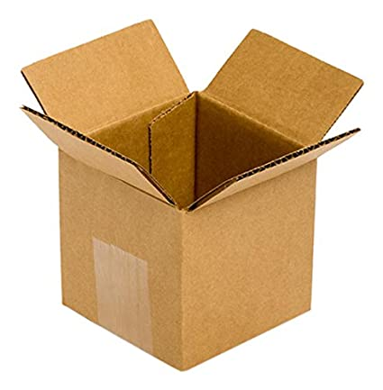Kraft Pack of 25 Pratt PRA0001 RSC 100/% Recycled Corrugated Cardboard Box 4 Length x 4 Width x 4 Height