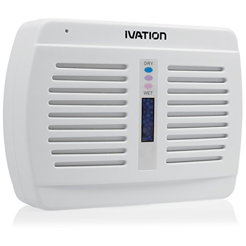 12. Ivation Renewable/Rechargeable Wireless Mini Dehumidifier