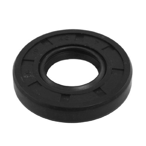 Uxcell a11122600ux0051 Spring Loaded Metric Rotary Shaft TC Oil Seal Double Lip 10x20x7mm