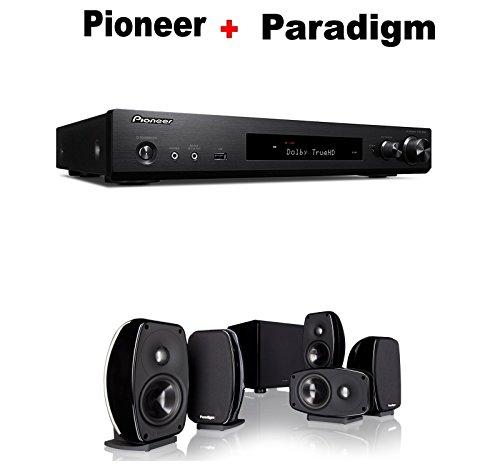 Pioneer Slim Audio & Video Component Receiver,Black  + Parad