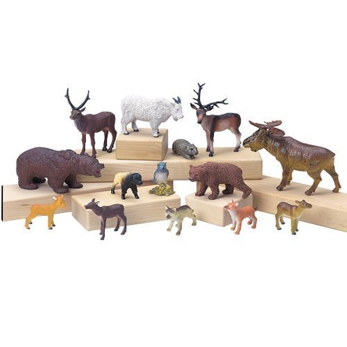 14 Piece Forest Animal Play Set For (Forest Animal Set)