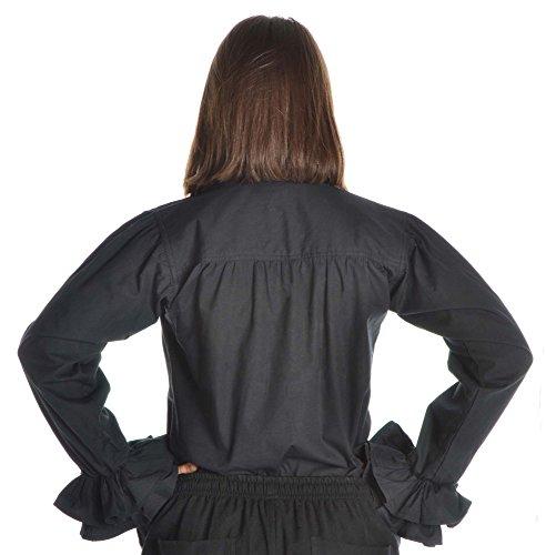 HEMAD Camicia rinascimentale in cotone delle donne con ruches