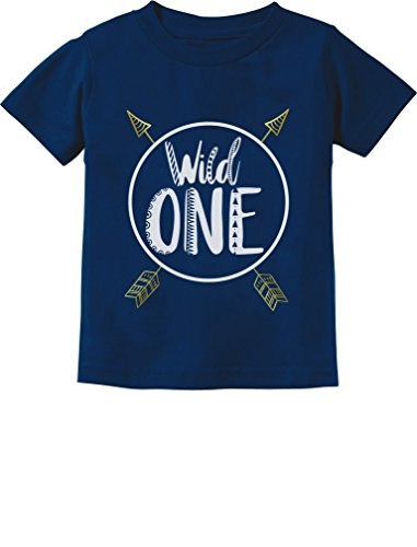 Wild One Baby Boys Girls 1st Birthday Gifts One Year Old Infant Kids T-Shirt 12M Navy (1st Year Birthday Party Ideas For A Boy)