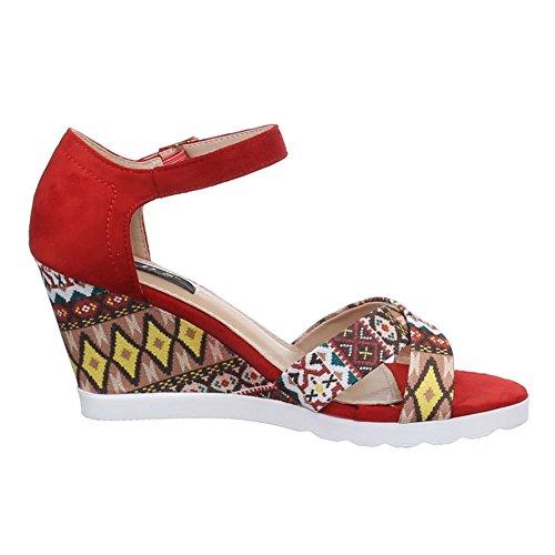 Ital-Design - Sandalias / Sandalias Mujer Rojo - rojo