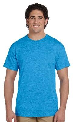 Gildan Men's Crewneck Short-Sleeve T-Shirt, HEATHER SAPPHIRE, Large. G200