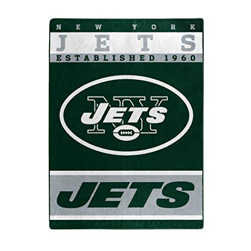 The Northwest Company Officially Licensed NFL New York Jets 12th Man Plush Raschel Throw Blanket, 60