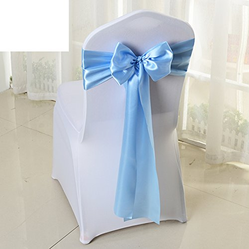 Wedding chair back cover/decorative streamers/bow ribbon-E by WXTFQB