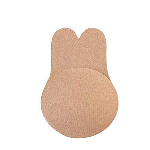 TAKE YANKEE Sticky Bra Invisible Nipplecovers Strapless Pushup Bra Self Adhesive Push up Backless Bras (Beige, Small)