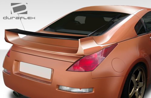 3 Piece Rear Spoiler Wing (2003-2008 Nissan 350Z 2DR Coupe Duraflex Vader 3 Rear Wing Trunk Lid Spoiler - 1 Piece)