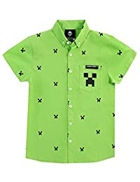 Minecraft Boys Creeper Button Down Shirt