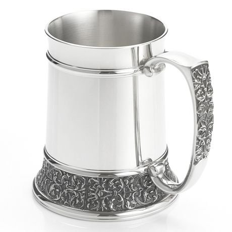 Royal Selangor Hand Finished Classic Expressions Collection Pewter Tankard (S) with Brilliant Finish (Brilliant Pewter Finish)