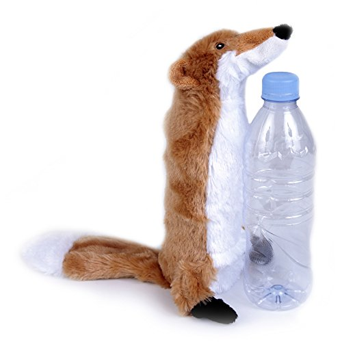Bottle Fill Wild Animal Crinkle Dog Toy - Fox