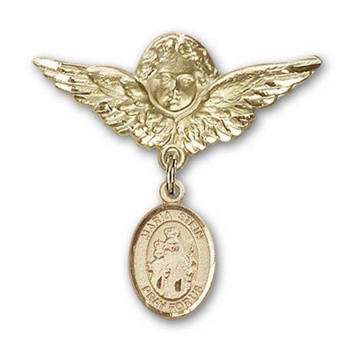 Icecarats Or Bijoux De Créateurs Rempli Maria Stein Charme Ange Broche De Badge 1 1/8 X 1 1/8