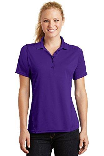 Sport-Tek Ladies Dry Zone Raglan Accent Polo. L475 Purple M