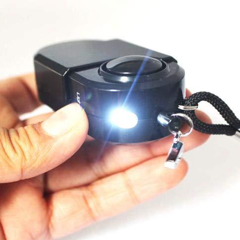 ZEERKEER 2 Unidades 120 dB Sirena Bolso Alarma Alarma Personal con luz LED de Alarma con Linterna para Mujeres Personas Mayores ni/ños