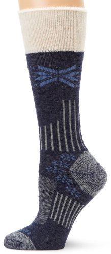 Carhartt Women's Snow Flake Sherpa Cuff Graduated Compression Boot Socks,  Denim, Shoe: 5.5-11.5